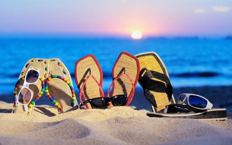 Flip Flops on a sandy beach