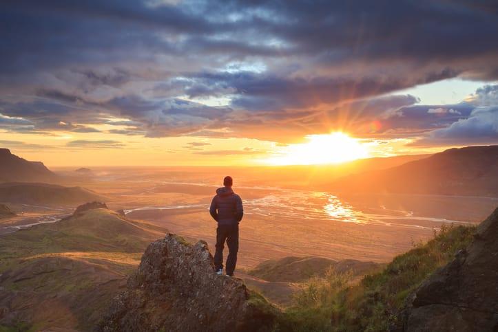 Iceland sunset professional