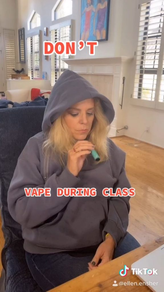 Don't Vape in Class Ellen Ensher tik tok