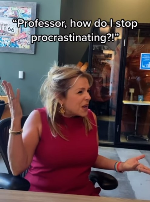 Ellen Ensher Procrastination TikTok